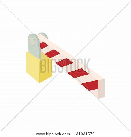 Barrier icon in cartoon style isolated on white background. Transport and service symbol