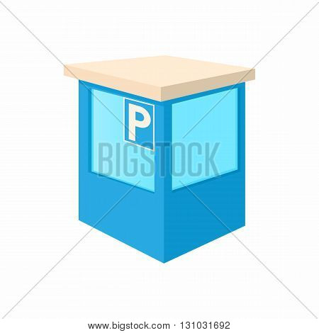 Parking toll booths icon in cartoon style isolated on white background. Transport and service symbol