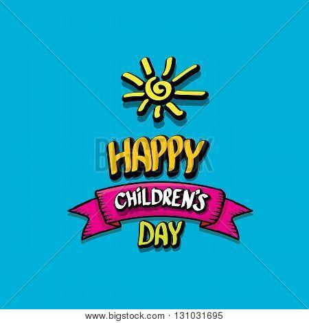 1 june international childrens day background. happy Children day greeting card. kids day poster