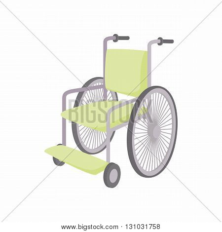 Wheelchair icon in cartoon style isolated on white background. Convenience for disabled symbol