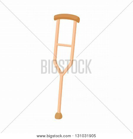 Crutch for the disabled icon in cartoon style isolated on white background. Convenience for disabled symbol