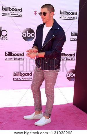 LAS VEGAS - MAY 22:  Nick Jonas at the Billboard Music Awards 2016 at the T-Mobile Arena on May 22, 2016 in Las Vegas, NV