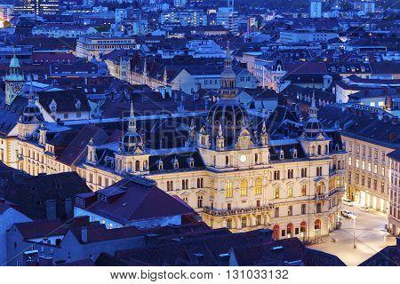 Graz City Hall on Hauptplatz. Graz Styria Austria.