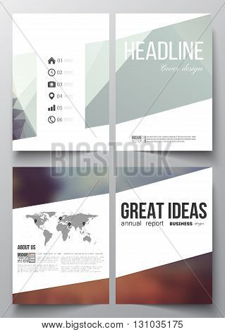 Set of business templates for brochure, magazine, flyer, booklet or annual report. Abstract background, modern stylish vector texture.