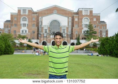 Portrait of college student at campus