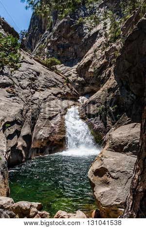 Roaring River Falls, Kings Canyon Np, Cedar Grove, California, Usa
