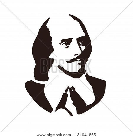 William Shakespeare - the famous English writer, author of plays
