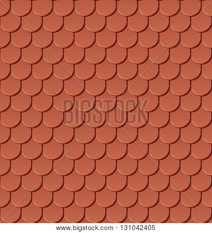 Clay roof tiles seamless pattern.