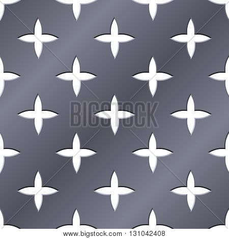 Cross perforated seamless steel plate illustration.