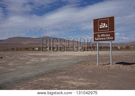 ATACAMA DESERT, CHILE - MAY 6, 2016: Historic graveyard in the Atacama Desert of northern Chile containing the graves of miners who worked extracting saltpeter.
