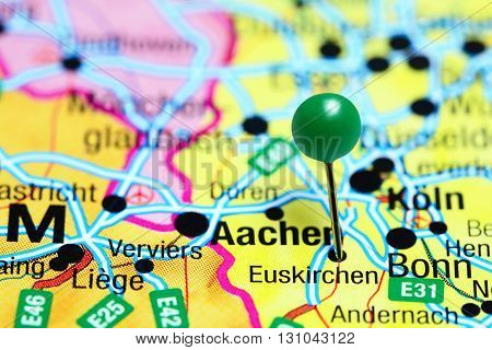 Euskirchen pinned on a map of Germany