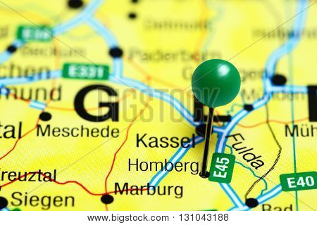 Homberg pinned on a map of Germany
