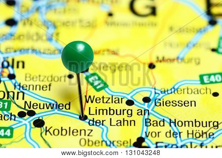 Limburg an der Lahn pinned on a map of Germany