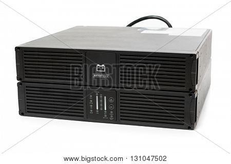 uninterruptible power supply (ups) with reserve battery, isolated on white