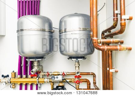 expansion tanks in boiler-room