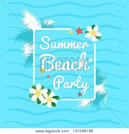 Summer beach party summer vacation background and banner