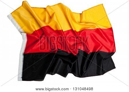 real fabric german flag background