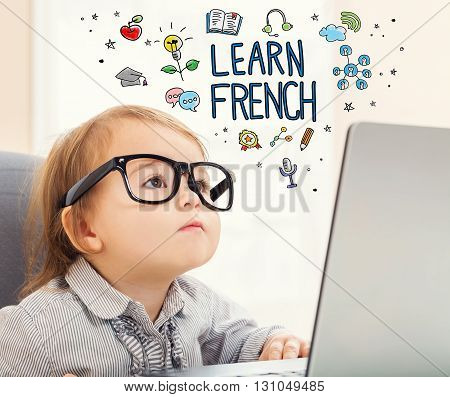 Learn French Concept With Toddler Girl