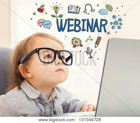 Webinar Concept With Toddler Girl