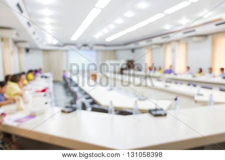 Blurred picture of business Conference, Business metting