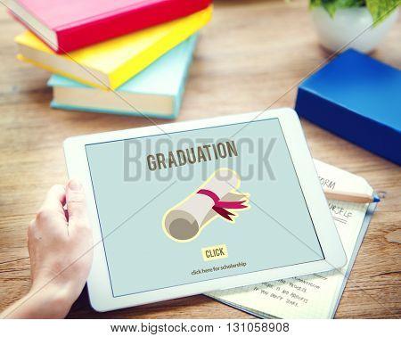 Diploma Degree Graduation Course Education Concept