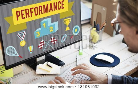 Performance Competition Goals Strategy Concept