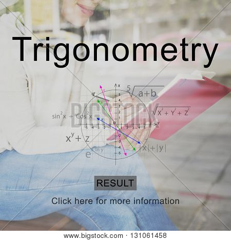 Trigonometry Studying Woman Women Concept