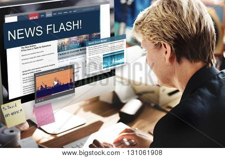 Update Trends Report News Flash Concept