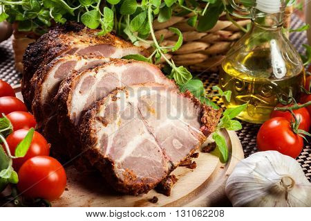 Roasted Pork Neck With Spices