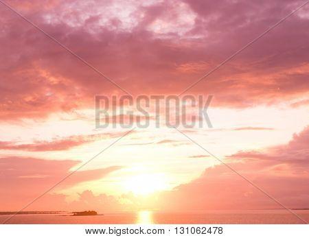 Setting Sun Burning Skies