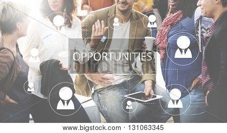 Recruitment Hiring Career job Employment Concept