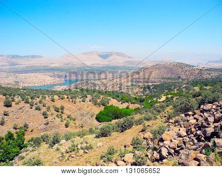 The landscape of desert mountains south-eastern Anatolia in Turkey.