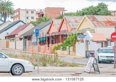 UITENHAGE SOUTH AFRICA - MARCH 7 2016: Historic old houses in Uitenhage some which are used for business purposes
