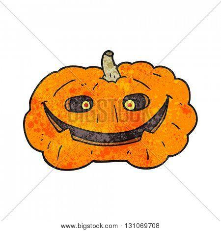 freehand textured cartoon pumpkin