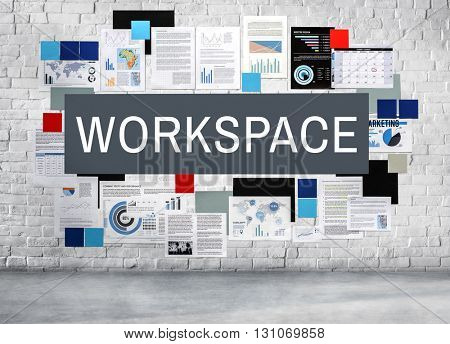 Workspace Office Stationary Workplace Concept