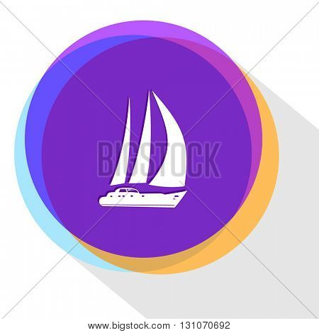 yacht. Internet template. Vector icon.