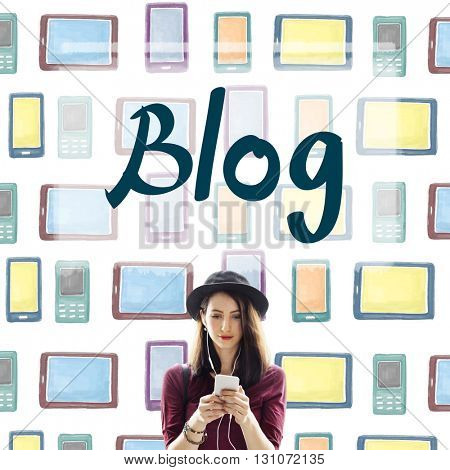 Blog Blogging Connecting Content Information Concept