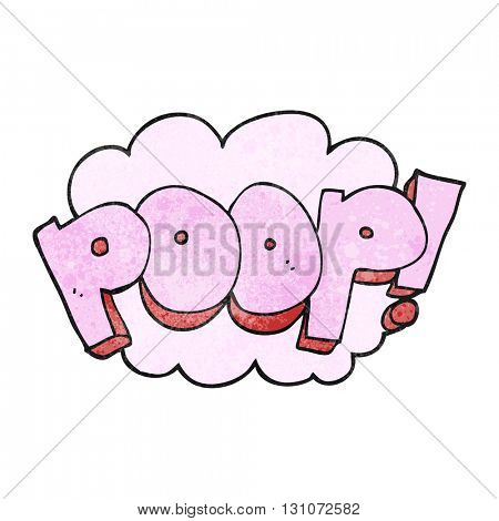 freehand textured cartoon poop! text