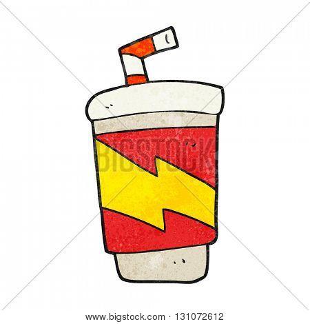 freehand textured cartoon soda drink