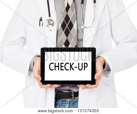 Doctor Holding Tablet - Check-up