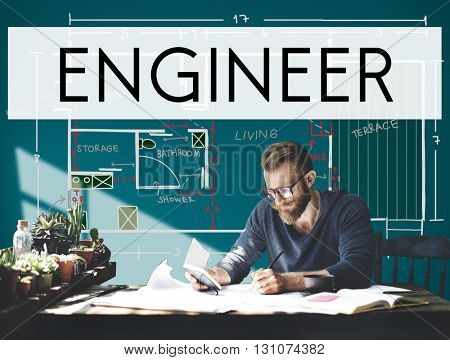 Engine Engineer Engineering Machine Occupation Concept