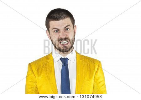 Angry Expression Of Businessman Face