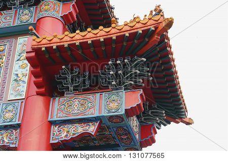 Arch Of Chinese Door Facade