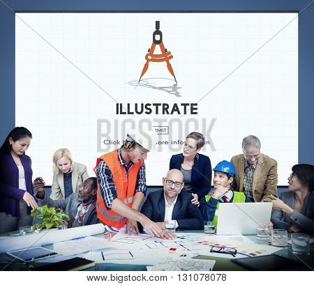 Illustrate Create Imagination Ideas Artistic Concept