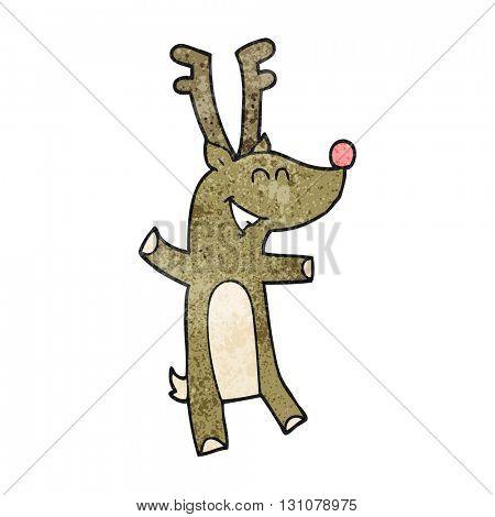 freehand textured cartoon reindeer