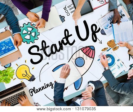 Start up Planning Growth Development Launch Concept