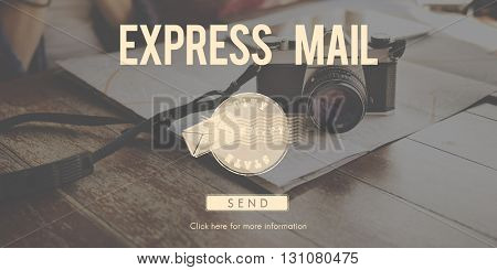 Postal Post Delivery Stamp Graphic Concept