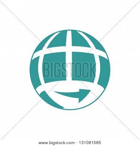 Translation agency globe logo vector illustration isolated on white background.