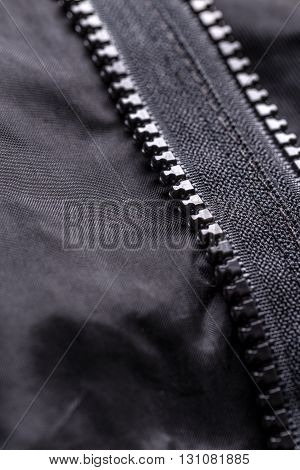 Zipper On Black Material