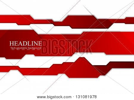 Abstract tech corporate graphic design. Vector background